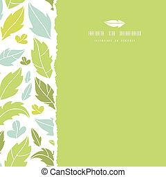 quadrato, modello, foglie, strappato, seamless, silhouette, fondo
