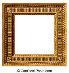 quadrato, neoclassico, cornice