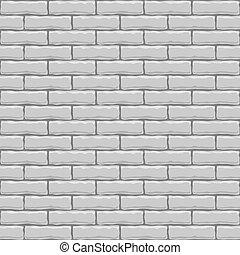 quadrato, seamless, texture., vettore, mattone bianco