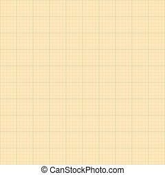 quadrato, vecchio, grafico, sepia, fondo., carta, griglia