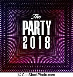 quadrato, viola, immagine, vettore, 2018, fondo, festa, puntino