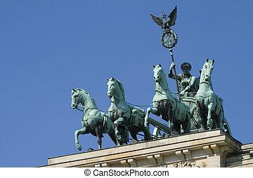 View / visibility of the Quadriga on the Brandenburg Gate