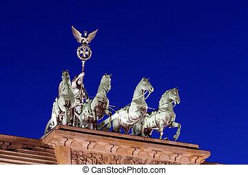Quadriga of Brandenburger Tor (The Brandenburg Gate) (1788-1791) designed by Carl Gotthard Langhans on the Pariser Platz, Berlin, Germany