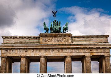 Quadriga on Top of the Brandenburger Tor (Brandenburg Gate) in Berlin, Germany