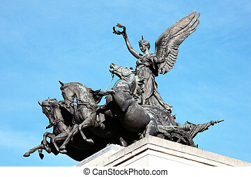 Quadriga Wellington Arch - Quadriga placed upon Wellington...