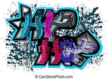 quadril, graffiti, pulo, sinal