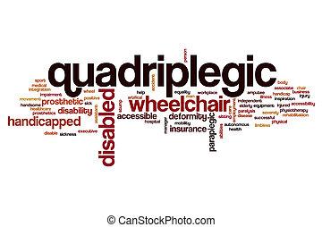 Quadriplegic word cloud