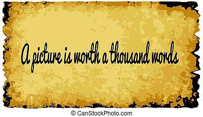 quadro, 100, valor, palavras
