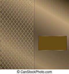 quadro, 2, ouro, fundo