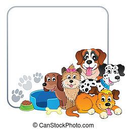 quadro, 2, tema, cão
