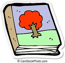 quadro, adesivo, livro, antigas, caricatura