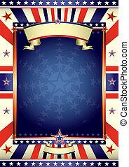 quadro, americano, cartaz