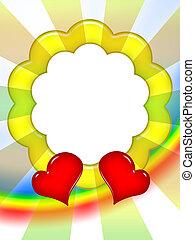 quadro, amor, coloridos