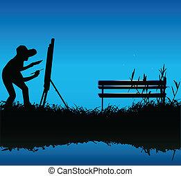 quadro, ao ar livre