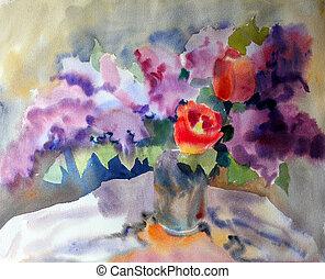 quadro, aquarela