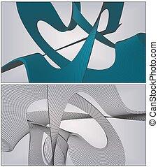 quadro, background..., fio, superfície