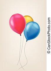 quadro, balões