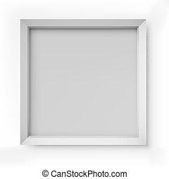 quadro, branca, quadro, em branco