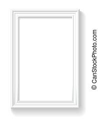 quadro, branca, wall.