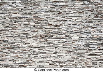 quadro cheio, parede pedra, firmemente, empilhado, arenito,...