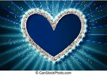 quadro, cinema, heart., azul, version.
