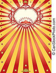 quadro, circo, cartaz