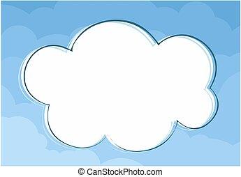 quadro, clouds.