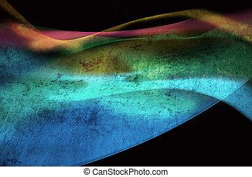 quadro, colorido, abstratos, -, gerado, computador, fundo,...