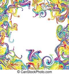 quadro, coloridos, abstratos