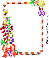 quadro, com, coloridos, candies.