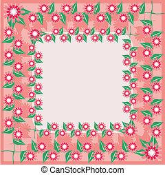 quadro, com, flores
