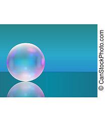 quadro, com, transparente, realístico, sabonetes, bubble.