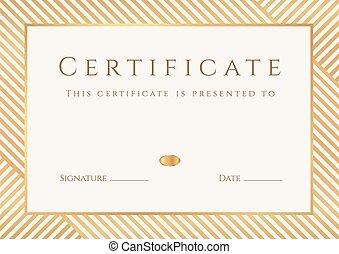quadro, completion., diploma, certificado