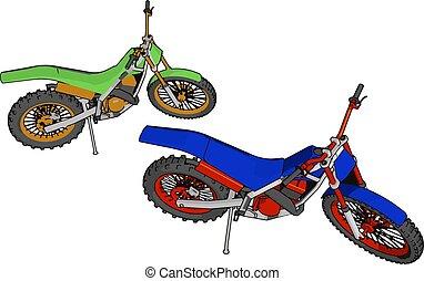 quadro, cor, ilustração, vetorial, veículo, ou, transporte