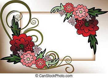 quadro, de, flores vermelhas