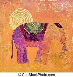 quadro, elefante