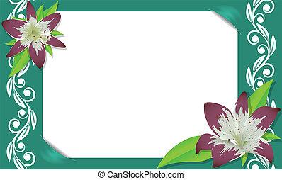 quadro, floral