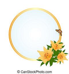 quadro, flores, amarela