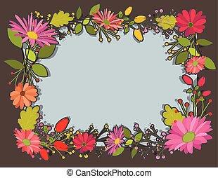 Quadro, flores, Amor