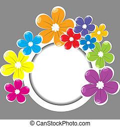 quadro, flores, colorido