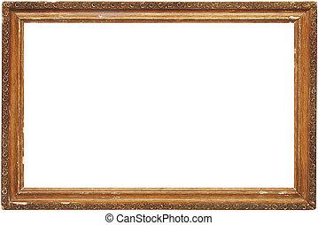 quadro fotografia, antigas, isolado, quadro