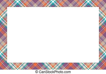 quadro fotografia, escocês, bordas, borda, texture., design., álbum, tecido, cartão, padrão, vector., scrapbook, geomã©´ricas, retângulo, modelo, colagem, portrait., tartan, fronteiras, xadrez, presente, vindima, ou