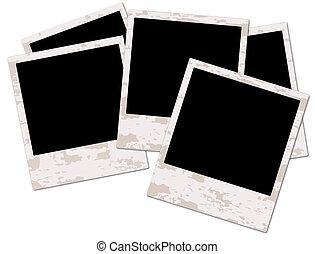 quadro fotografia, grunge, em branco