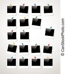 quadro fotografia, polaroid, fundo