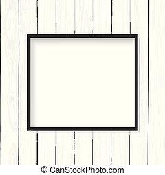 quadro, frame madeira, textura, em branco, branca