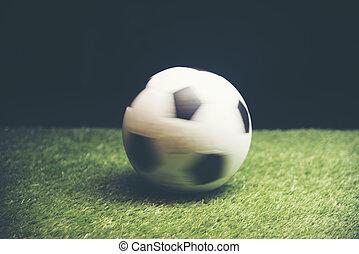 quadro, futebol, movimento, cup., mundo