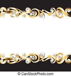 quadro, jóia, ouro
