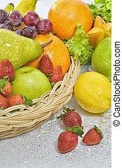 quadro, legumes, fruta, melhor
