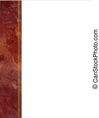 quadro, mármore, vermelho, lado