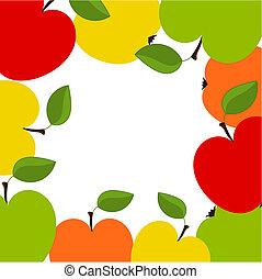 quadro, maçã
